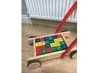 Toddler Toy Bundle inc Original Wheelie Bug, Trike and John Lewis Block Truck