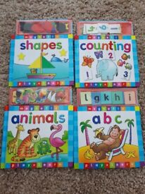 Play and learn magnetic book set x 4