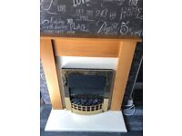 Lovely electric fire and surround