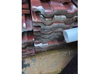Reclaimed roof concrete tiles