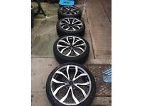 225 40 18 Alloy wheels and tyres.