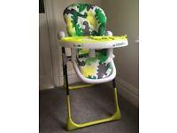 Cosatto Supa Noddle High Chair C-Rex Dino Green
