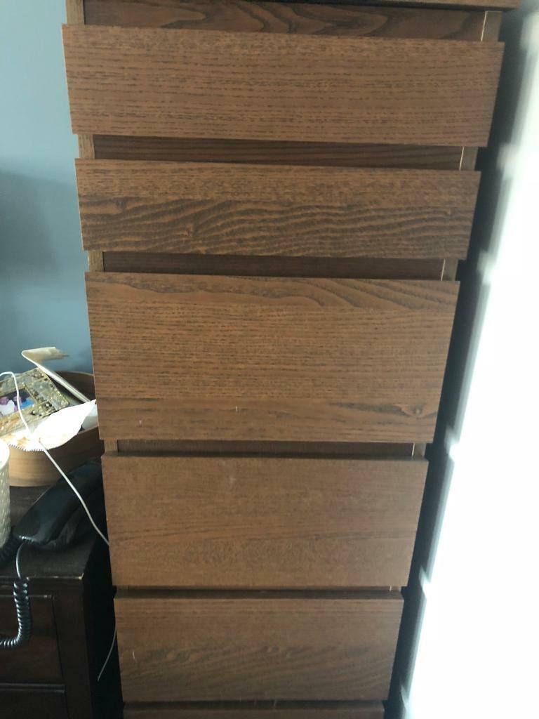 Rvs Wandplank Ikea.Ikea Malm Tall Chest Of Drawers In Chellaston Derbyshire Gumtree