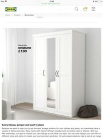 IKEA Double Wardrobe With Mirror
