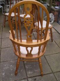 high backed carver chair,with wheel back