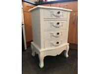 Large Bedside Table - White Chic Bedside Table - French Bedside Table
