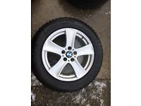 """Bmw 18"""" wheels and snow tyres"""
