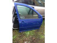 VW Golf Mk4 O/S Front Door
