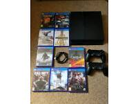 PS4 1TB VGC, 2 CONTROLLERS WITH 9 GAMES ALL LEADS AND ORIGINAL BOX
