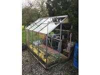 Small greenhouse - buyer dismantles
