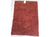 WATERFALL CHENILLE LOOP RUG 100% COTTON - WASHABLE - 120 x 170 cm - BROWN