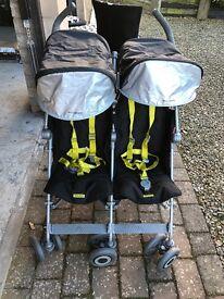 McClaren twin push chair