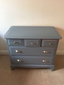 Chest of Drawers Stage Vintage Refurbished in Grey