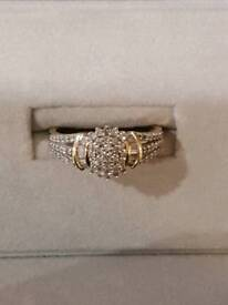 9ct gold diamond rings size p to q