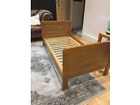 Babystyle Calgary oak effect cotbed / cot bed with sides VGC ONO