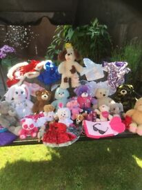 A selection of build a bears and accessories daughter has now out grown them
