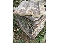 "140 Marley reclaimed concrete roof tiles 16""x 13"""