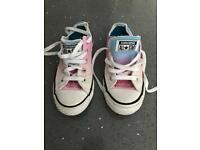 Girls size 1UK Converse All Stars