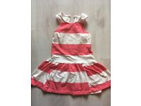 Next girls dress age 4-5 years, pink and white (Knowle BS4)