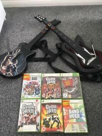Xbox guitars and games