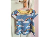 Mini Boden rainbow tunic 18-24 months