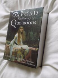 Oxford Dictionary of Quotations, brand new still in cellaphane wrapper. ISBN 0-19-860720-2
