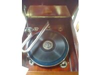 Geisha Gilbert gramophone in original cabinet and box 78s all working (can deliver locally)