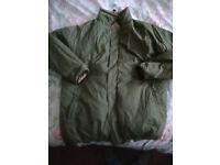 Olive/Sand REVERSIBLE Thermal Bivvy Jacket + Bag, Size Large