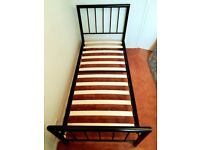 Single 3 by 6 ft Bed Frame & Mattress