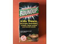 Roundup tree stump and root killer