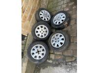 Vauxhall cavalier LXI ,Astra Gte Corsa Nova Belmont 4x100 alloy wheels set of 5
