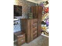 Bedroom furniture set- drawers, wardrobe, bedside table
