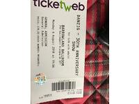 Danzig ticket for Glasgow 6/8/18