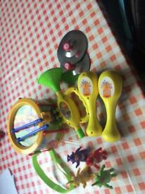 Teletubbies music set and figures