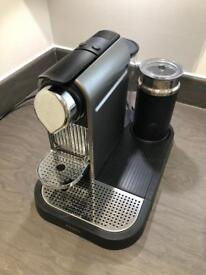 Nespresso CitiZ and Milk by Krups XN730T40 Coffee Machine - Titanium Krups