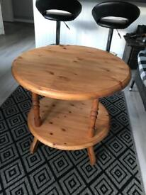 Solid pine plant/ side table (can deliver)