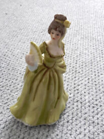 ALFRETTO PORCELAIN CHINA FIGURE OF LADY IN GREEN DRESS FIGURINE ORNAMENT PERFECT CONDITION REDUCED