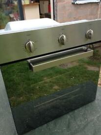 Gas oven, hob and extractor hood