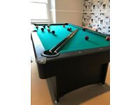 7ft Pool Table and Table Tennis Table Combo