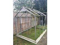 Large 6x4 greenhouse with glass already removed and door