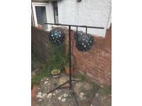 Sound Lab Honeycomb Disco Lights and T-Bar Stand - £65
