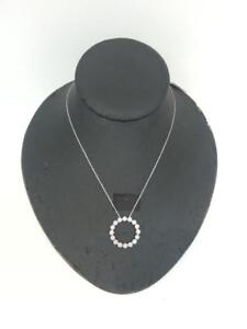10kt Diamond Circle Pendant with chain . We Buy and Sell used Jewelry. (#16615)CH0620474