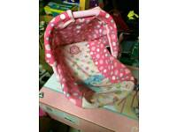 ELC doll accessories high chair, rocking chair and car seat