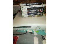 Xbox 360 with games