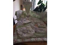 Cot Bed Bedding Olive, Henri & Friends