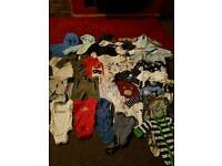 Bundle of baby boy clothes sizes newborn and 0-3 months