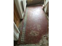 Victorian reclaimed terracotta MINTON floor tiles