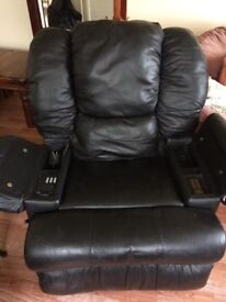 Leather Recliner , with massager