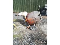 belle cement mixer 240v v(electric) used,,but works well,,, please read description,,,