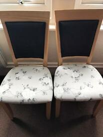 Two Re Upholstered Dining Chairs